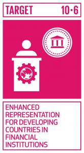 GTI リスト ( GTI List )-SDGs地球規模の国際経済・金融制度の意思決定における開発途上国の参加や発言力を拡大させることにより、より効果的で信用力があり、説明責任のある正当な制度を実現する。