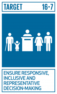 GTI リスト ( GTI List )-SDGsあらゆるレベルにおいて、対応的、包摂的、参加型及び代表的な意思決定を確保する。