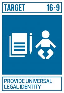 GTI リスト ( GTI List )-SDGs2030年までに、全ての人々に出生登録を含む法的な身分証明を提供する。