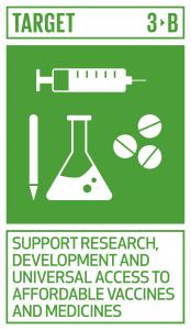 GTI リスト ( GTI List )-SDGs主に開発途上国に影響を及ぼす感染性及び非感染性疾患のワクチン及び医薬品の研究開発を支援する。また、知的所有権の貿易関連の側面に関する協定(TRIPS協定)及び公衆の健康に関するドーハ宣言に従い、安価な必須医薬品及びワクチンへのアクセスを提供する。同宣言は公衆衛生保護及び、特に全ての人々への医薬品のアクセス提供にかかわる「知的所有権の貿易関連の側面に関する協定(TRIPS協定)」の柔軟性に関する規定を最大限に行使する開発途上国の権利を確約したものである。