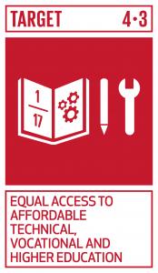 GTI リスト ( GTI List )-SDGs2030年までに、全ての人々が男女の区別なく、手の届く質の高い技術教育・職業教育及び大学を含む高等教育への平等なアクセスを得られるようにする。