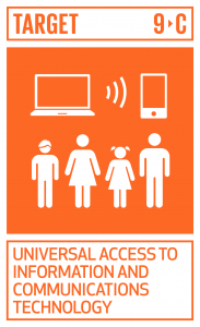 GTI リスト ( GTI List )-SDGs後発開発途上国において情報通信技術へのアクセスを大幅に向上させ、2020年までに普遍的かつ安価なインターネットアクセスを提供できるよう図る。