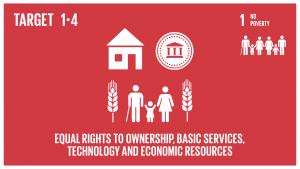 GTI リスト ( GTI List )-SDGs2030年までに、貧困層及び脆弱層をはじめ、全ての男性及び女性が、基礎的サービスへのアクセス、土地及びその他の形態の財産に対する所有権と管理権限、相続財産、天然資源、適切な新技術、マイクロファイナンスを含む金融サービスに加え、経済的資源についても平等な権利を持つことができるように確保する。