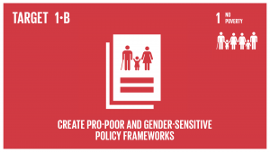 GTI リスト ( GTI List )-SDGs貧困撲滅のための行動への投資拡大を支援するため、国、地域及び国際レベルで、貧困層やジェンダーに配慮した開発戦略に基づいた適正な政策的枠組みを構築する。