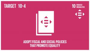 GTI リスト ( GTI List )-SDGs税制、賃金、社会保障政策をはじめとする政策を導入し、平等の拡大を漸進的に達成する。