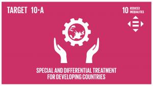 GTI リスト ( GTI List )-SDGs世界貿易機関(WTO)協定に従い、開発途上国、特に後発開発途上国に対する特別かつ異なる待遇の原則を実施する。