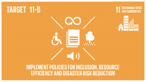 GTI リスト ( GTI List )-SDGs2020年までに、包含、資源効率、気候変動の緩和と適応、災害に対する強靱さ(レジリエンス)を目指す総合的政策及び計画を導入・実施した都市及び人間居住地の件数を大幅に増加させ、仙台防災枠組2015-2030に沿って、あらゆるレベルでの総合的な災害リスク管理の策定と実施を行う。