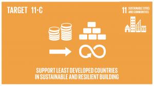 GTI リスト ( GTI List )-SDGs財政的及び技術的な支援などを通じて、後発開発途上国における現地の資材を用いた、持続可能かつ強靱(レジリエント)な建造物の整備を支援する。