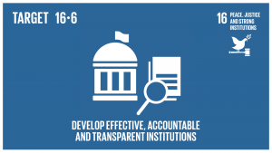 GTI リスト ( GTI List )-SDGsあらゆるレベルにおいて、有効で説明責任のある透明性の高い公共機関を発展させる。
