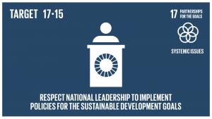 GTI リスト ( GTI List )-SDGs貧困撲滅と持続可能な開発のための政策の確立・実施にあたっては、各国の政策空間及びリーダーシップを尊重する。