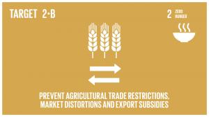 GTI リスト ( GTI List )-SDGsドーハ開発ラウンドのマンデートに従い、全ての農産物輸出補助金及び同等の効果を持つ全ての輸出措置の同時撤廃などを通じて、世界の市場における貿易制限や歪みを是正及び防止する。