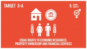 GTI リスト ( GTI List )-SDGs女性に対し、経済的資源に対する同等の権利、並びに各国法に従い、オーナーシップ及び土地その他の財産、金融サービス、相続財産、天然資源に対するアクセスを与えるための改革に着手する。